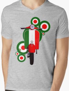 Italian decal scooter on roundals Mens V-Neck T-Shirt