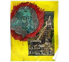 Tikal and Jade Mayan Sculpture Poster