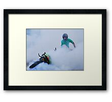 ' up in smoke' Framed Print