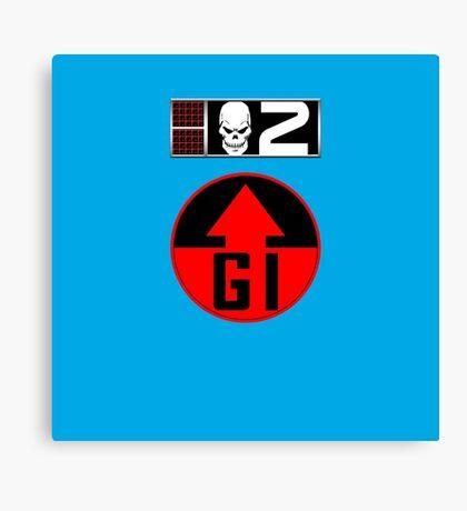 Gunnar BioChip and GI Badge Canvas Print