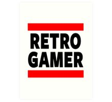 Retro Gamer Art Print