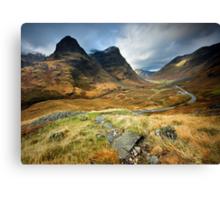 Scotland : Shadow of Glencoe Canvas Print