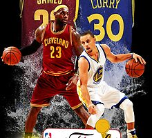 Lebron James vs Stephen Curry by kaiffer