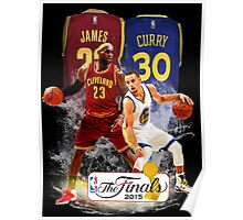 Lebron James vs Stephen Curry Poster
