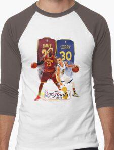 Lebron James vs Stephen Curry Men's Baseball ¾ T-Shirt