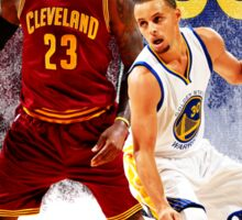 Lebron James vs Stephen Curry Sticker