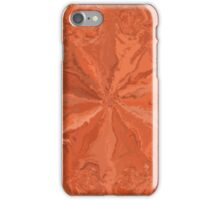Abstract orange modern pattern iPhone Case/Skin