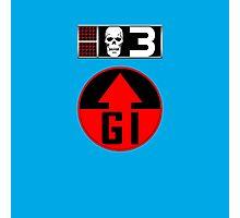 Bagman BioChip and GI Badge Photographic Print