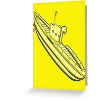 A Yellow Submarine design Greeting Card