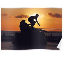 Surfer Tim Kelly Poster