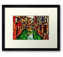 Canals Of Venice Fine Art Print Framed Print
