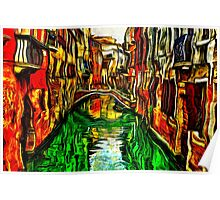 Canals Of Venice Fine Art Print Poster