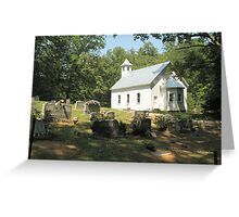 """""""Cades Cove Missionary Baptist Church""""... prints and products Greeting Card"""