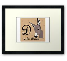 D abc Framed Print
