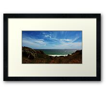 Land, sea and skyscape Framed Print