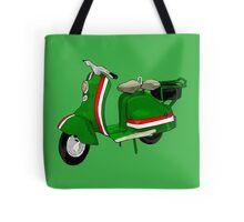 Fifties Lambretta Green decal Tote Bag