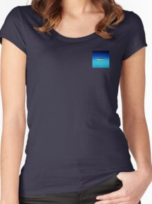 Exotic Private Island  Women's Fitted Scoop T-Shirt
