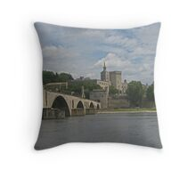Bridge from nowhere into history Throw Pillow