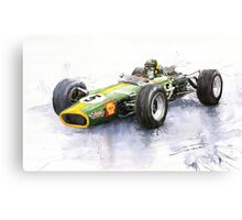Lotus 49 Ford F1 Jim Clark Canvas Print
