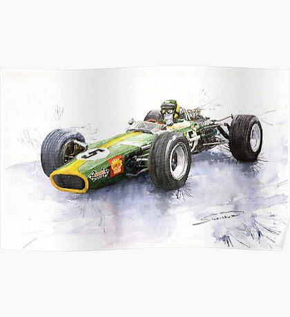 Lotus 49 Ford F1 Jim Clark Poster