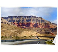 The drive to Bryce Canyon Poster