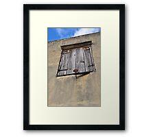Shuttered window - St. Martin, DWI Framed Print