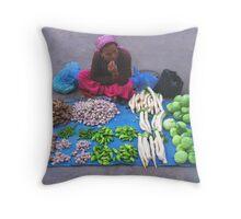 Veggies for Sale Throw Pillow