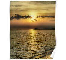 Sunset Over Penguin Island Poster