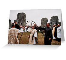 Ritual at Stonehange Greeting Card