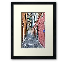 Vicoli di Genova Framed Print