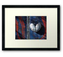 Patriotic Heart.  Framed Print