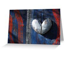 Patriotic Heart.  Greeting Card