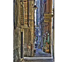 alley of genoa Photographic Print