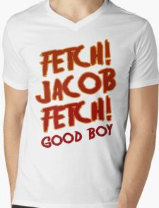 Fetch Jacob Fetch Werewolf Twilight Mens V-Neck T-Shirt