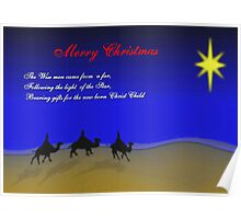Wise Men,..Christmas Card Poster
