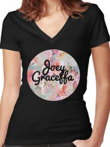 Joey Graceffa Circle logo Women's Fitted V-Neck T-Shirt