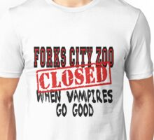 Forks City Zoo Closed Twilight Unisex T-Shirt
