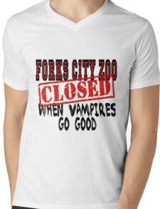 Forks City Zoo Closed Twilight Mens V-Neck T-Shirt