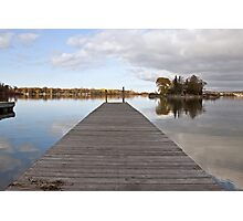 A Dock on Green Bay Photographic Print