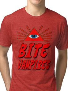 I Bite Vampires Tri-blend T-Shirt