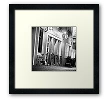 In the streets of Saarbruecken (Germany) Framed Print