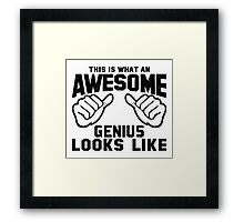 This is What an AWESOME GENIUS Looks Like Retro Framed Print