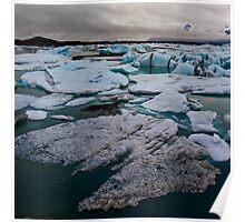 Iceland - Icebergs Poster