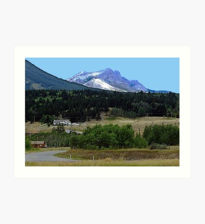 Crowsnest Pass and Mountain Art Print