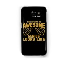 This is What an AWESOME GENIUS Looks Like Retro Samsung Galaxy Case/Skin