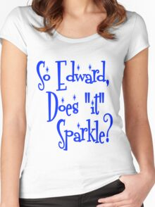"""Edward, Does """"It"""" Sparkle Twilight Women's Fitted Scoop T-Shirt"""