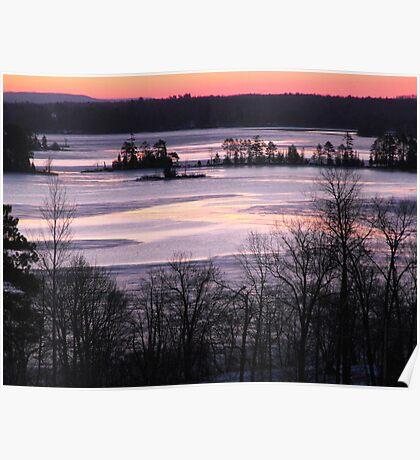 Sunrise Over The Ottawa River- Late Winter 2009 Poster