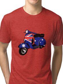 Australian Flag decal scooter Tri-blend T-Shirt