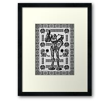 Metroid Samus Aran Geek Line Artly Framed Print