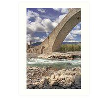 Bobbio - Old Bridge Art Print